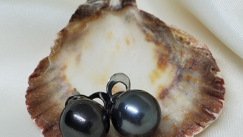 Clearance-Tahitian Black Earrings