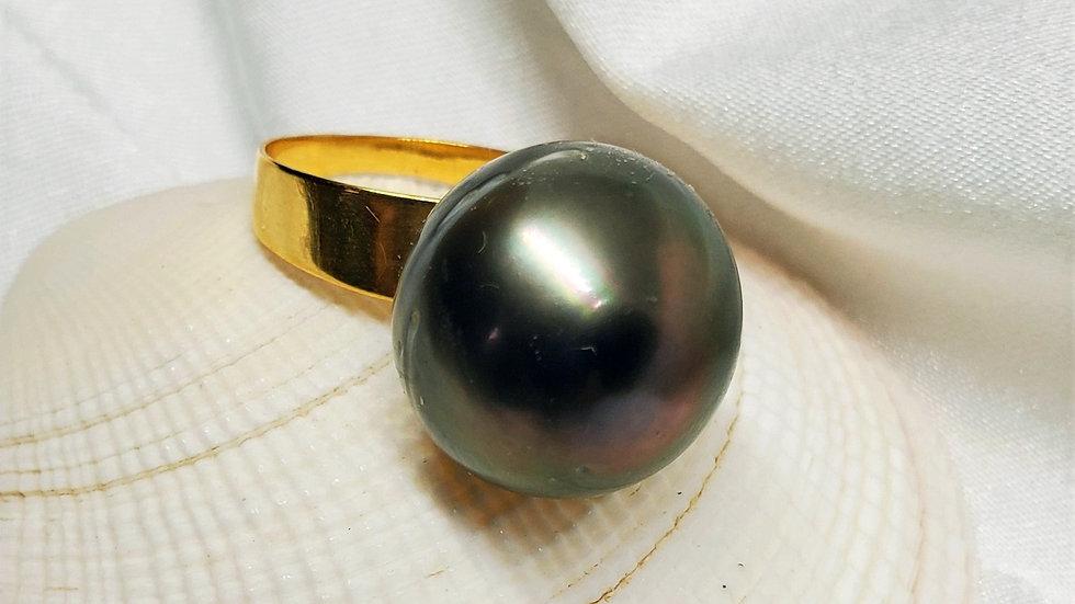 Pre-Order Huge 16+ mm Black Tahitian Ring