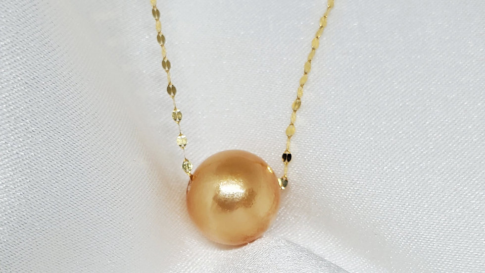 Deep Golden Slider Necklace