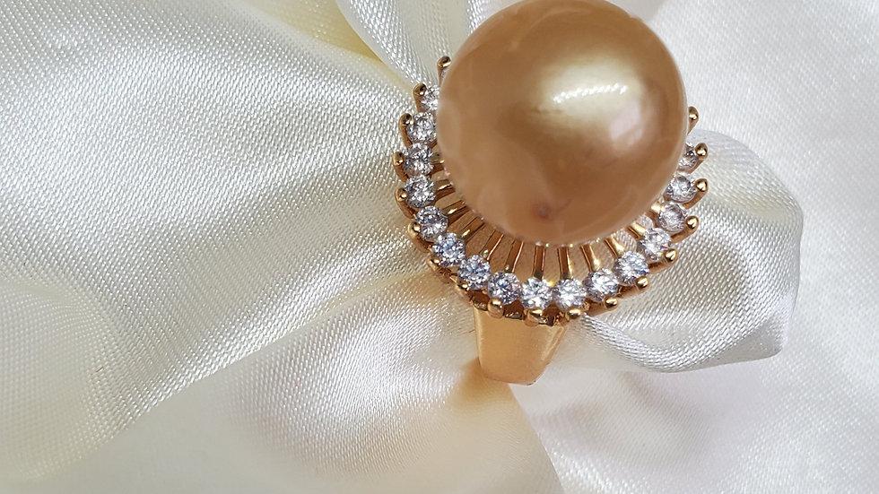 Dark Golden Pearl Ring