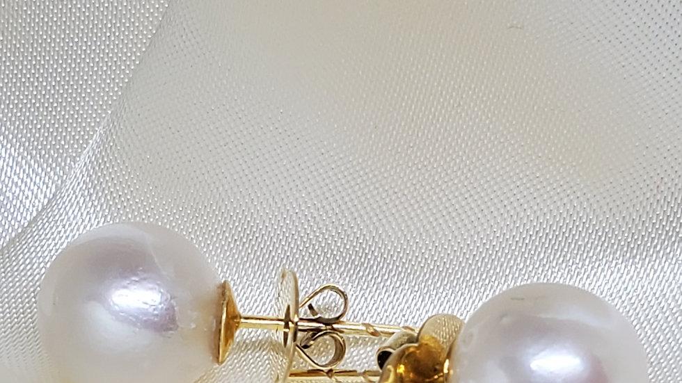 Pinkish White Earrings
