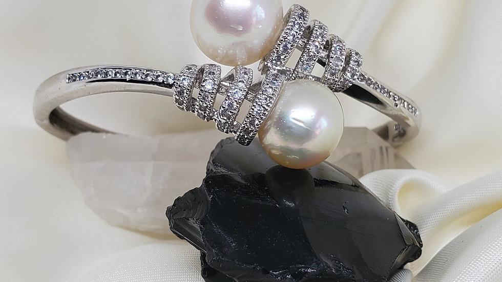 Elegant 2 Pearl  Bangle