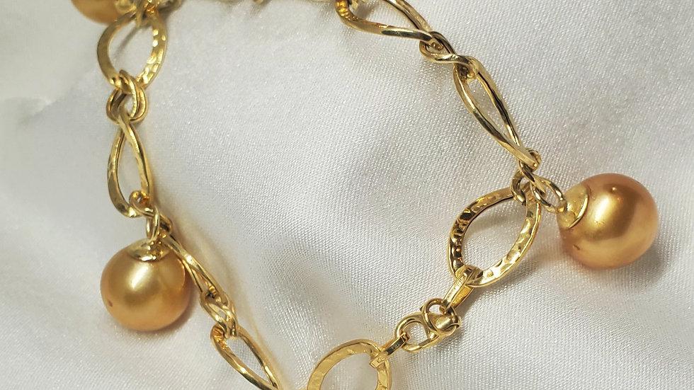 Stunning Deep Dark Golden Charm Bracelet