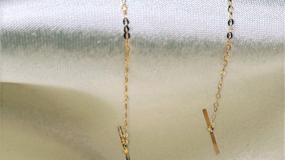 Clearance-Chain Pull Through Dangling Earring