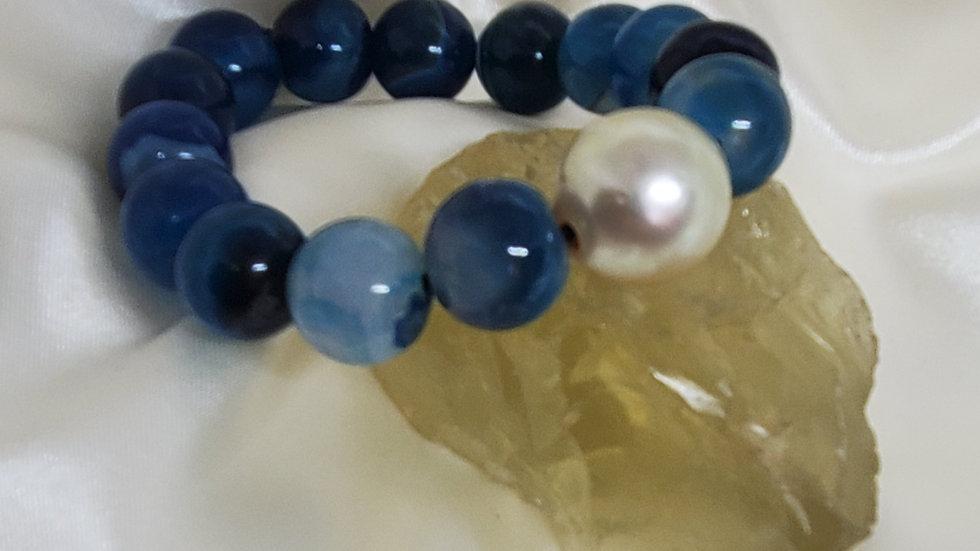 White Blue Dragon Bracelet