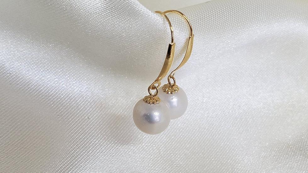 Baby White Dangling Earrings