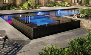 infinity high edge spa wet edge, pool lighting, swimming pool