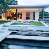 Pool, spa, outdoor dining & landscape pa