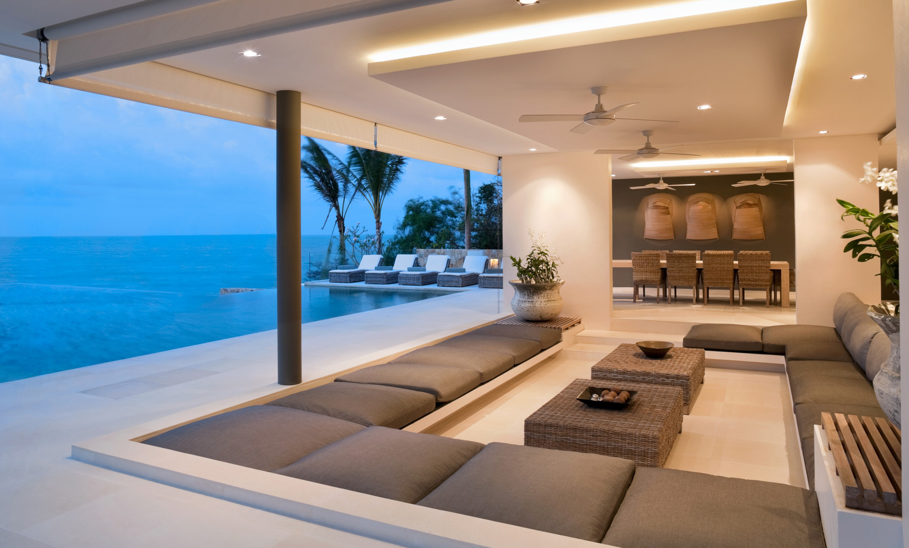Sunken Outdoor Living & Pool