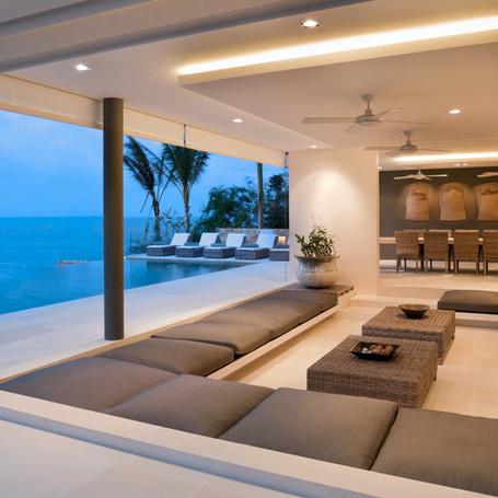 Sunken Outdoor Living & Pool