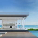 Beach design pool & entertainment area