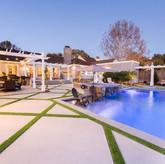 Hardscaping swimming pool