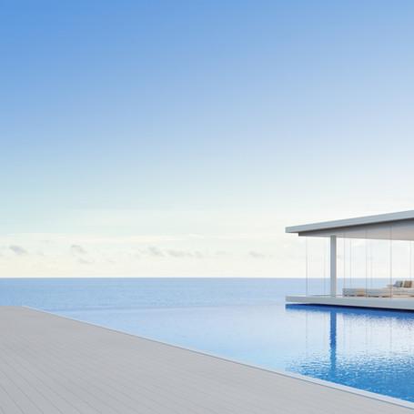 3D Concrete Pool and Entertainment area