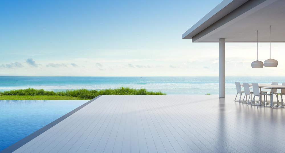 custom designed and built luxury conrete pools