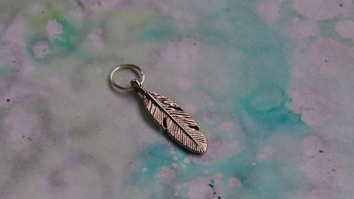 Feather Silver charm