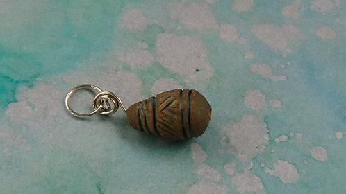 Teardrop Handmade Clay charm