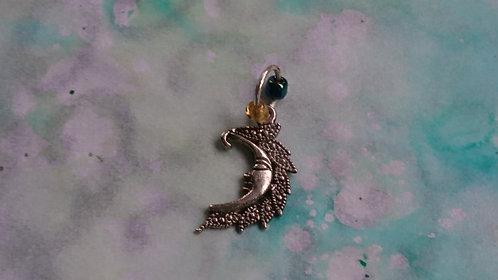 Celestial Moon Silver charm