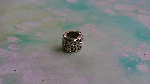 Small Swirl silver bead