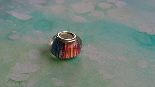 Rainbow silver bead