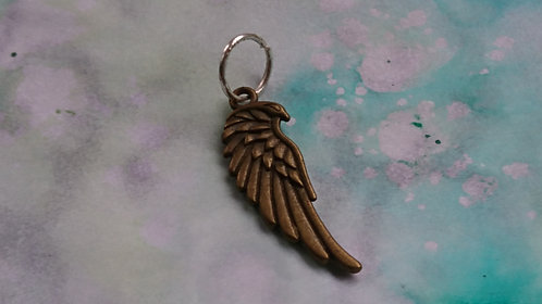 Feather Bronze charm