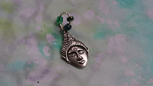 Buddha Head Silver charm
