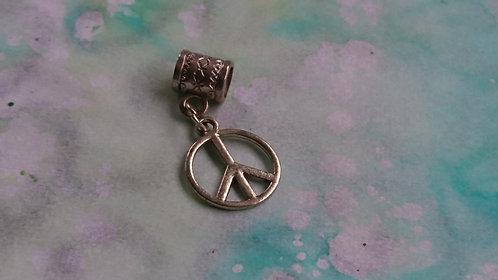 Peace CND Silver charm