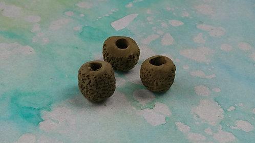 Handmade Clay charm Brown