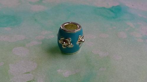 Blue Flower silver bead