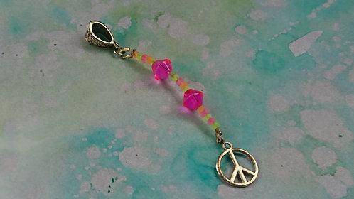 Peace CND Hand beaded dangle charm