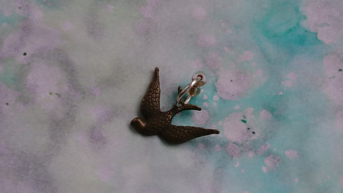 Bronze Swallow Bird charm