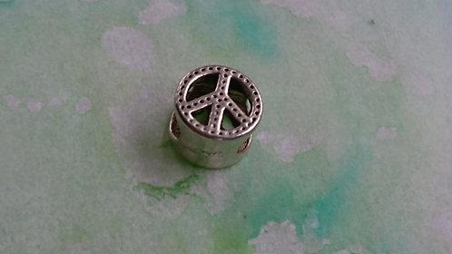 Peace CND silver bead