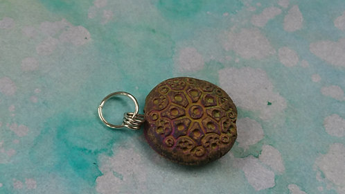 Disc Handmade Clay charm