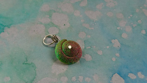 Spray painted Shell charm