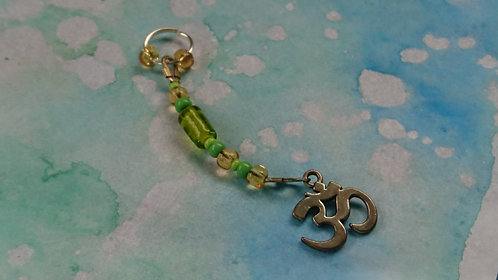Ohm Hand beaded dangle charm