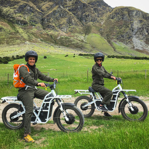Electric Trail Bikes at Walter Peak Farm