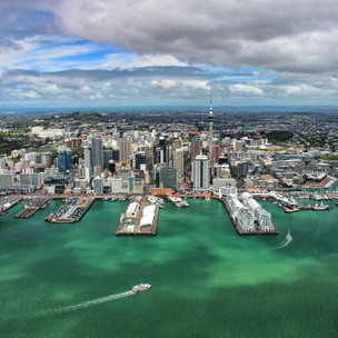Luxury helicopter flight over Auckland