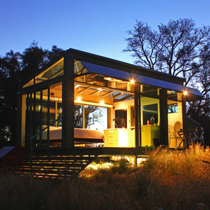 A completely glass, luxury eco-chalet