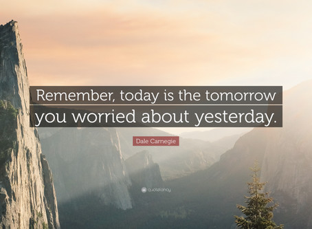 Are you Worried about Tomorrow?