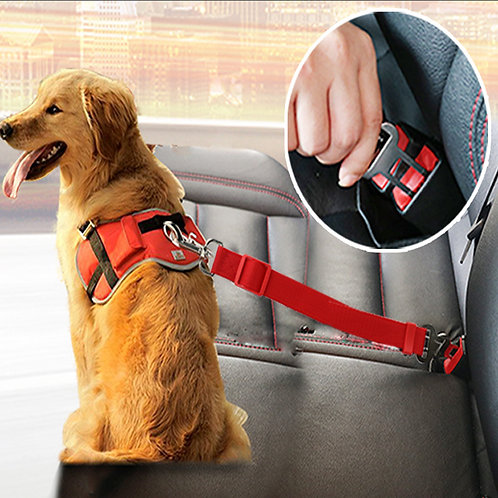 Marley & Boof Quality Dogs Car Seatbelt Harness - Lead Clip -  Safety Lever