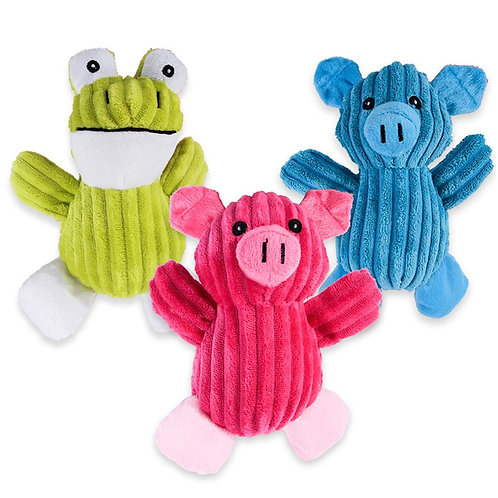 Marley & Boof Assorted Plush Dog Toys | Squeaky Puppy Chew