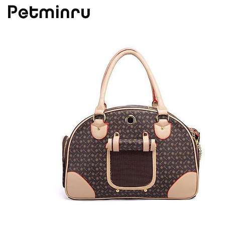 Marley & Boof - Pu Leather Small Cat Dog Carrier Bag
