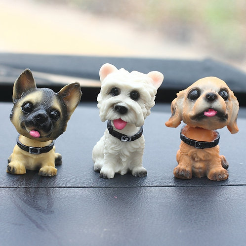 Marley & Boof Friends - Cute Shaking Head Dogs - Figurines