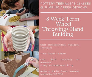 8 Week Term Wheel Throwing+ Hand Buildin