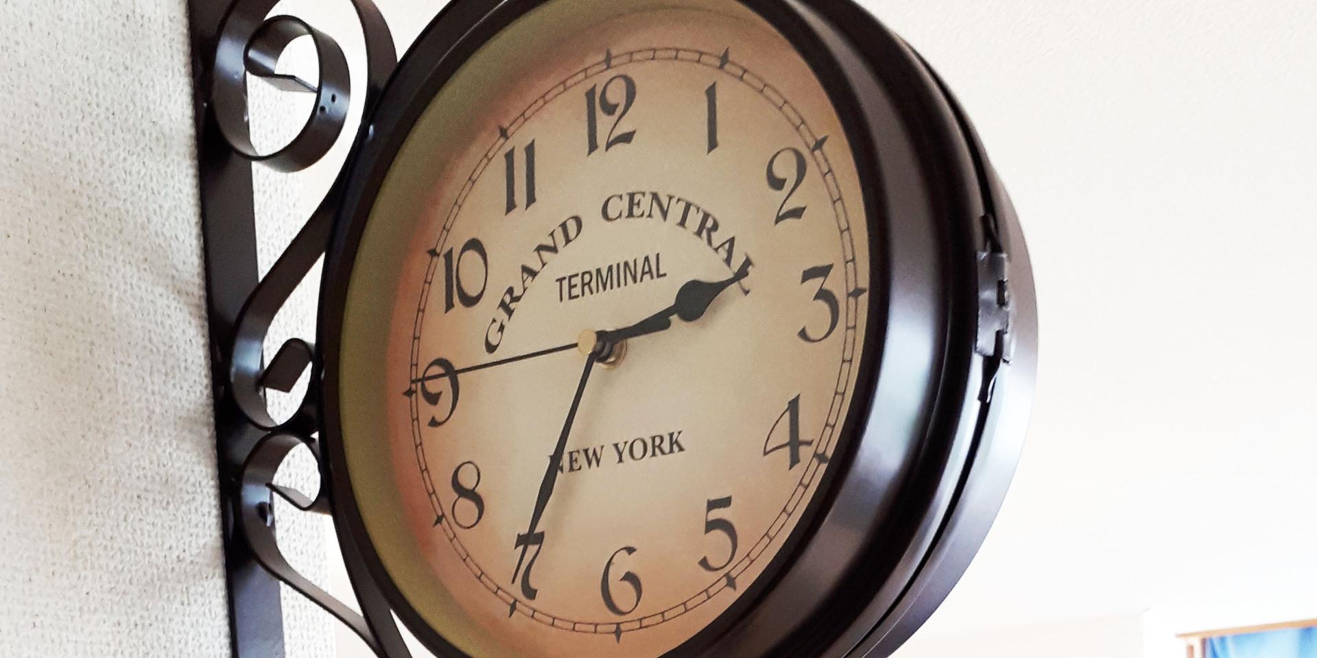 レッスン101の教室の時計です。