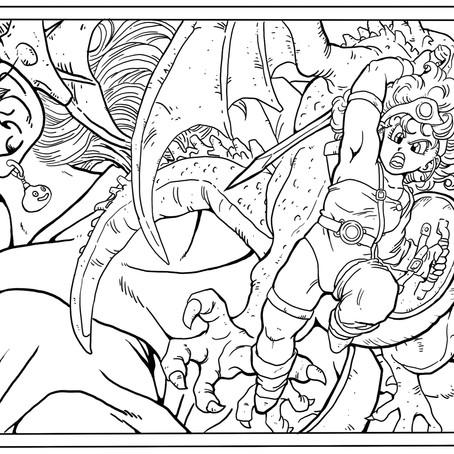 線画を描きました。 Dragon Quest4 横浜デジタル教室:レッスン101