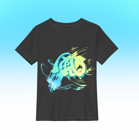 風Tシャツ完成! 横浜デザイン絵画教室:レッスン101
