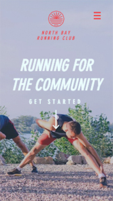 スポーツ website templates – Running Group