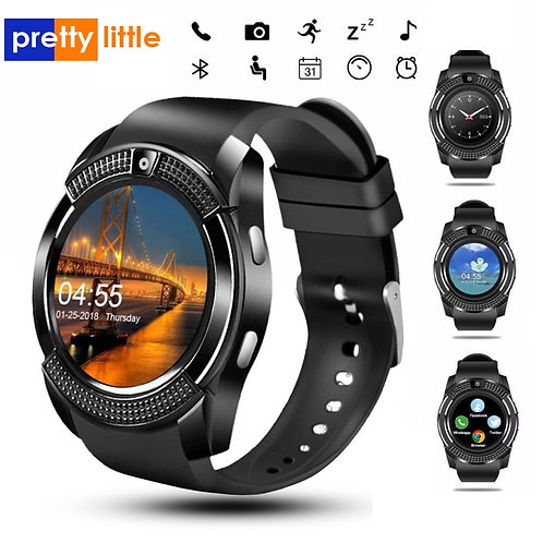 Men Smart Watch V8 Sim Card Android Camera  Dial Call Heart Rate Fitness Tracker