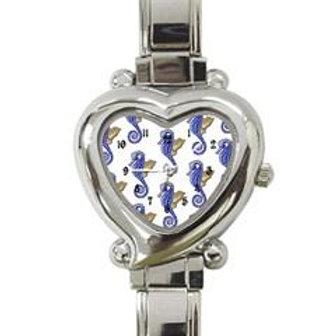 Seahorse Heart Charm Watch