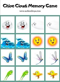 Chloe Cloud: Activity Sheet: memory game